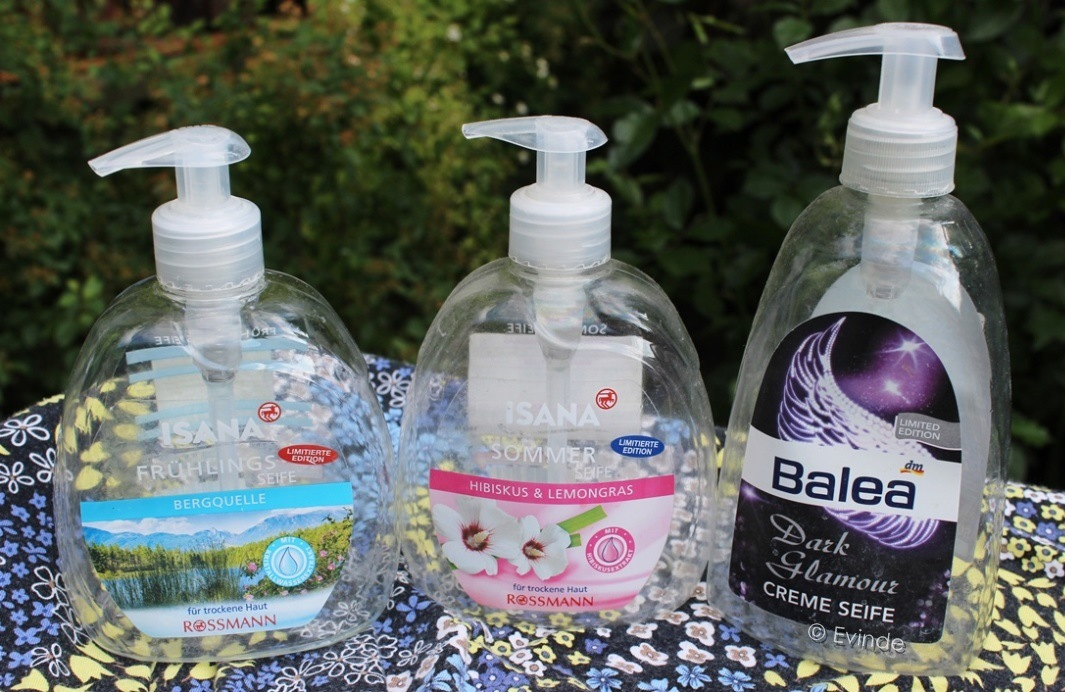 Isana and Balea hand soap