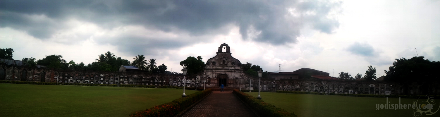 Panorama photo of the Chapel with above ground tombs