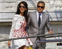 matrimonio venezia Clooney sposi
