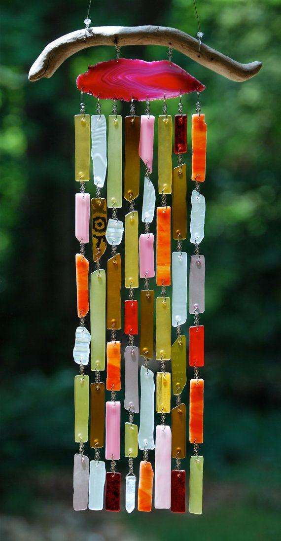 Mobile de sobras de vidro