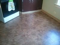 kitchen floor, bathroom floor, peel-n-stick tiles