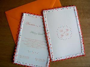 Invitación de boda Tu y yo