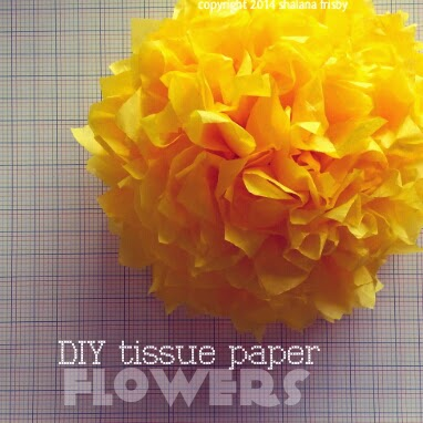 tissue paper flowers quick and easy craft tutorial for decorating home or party