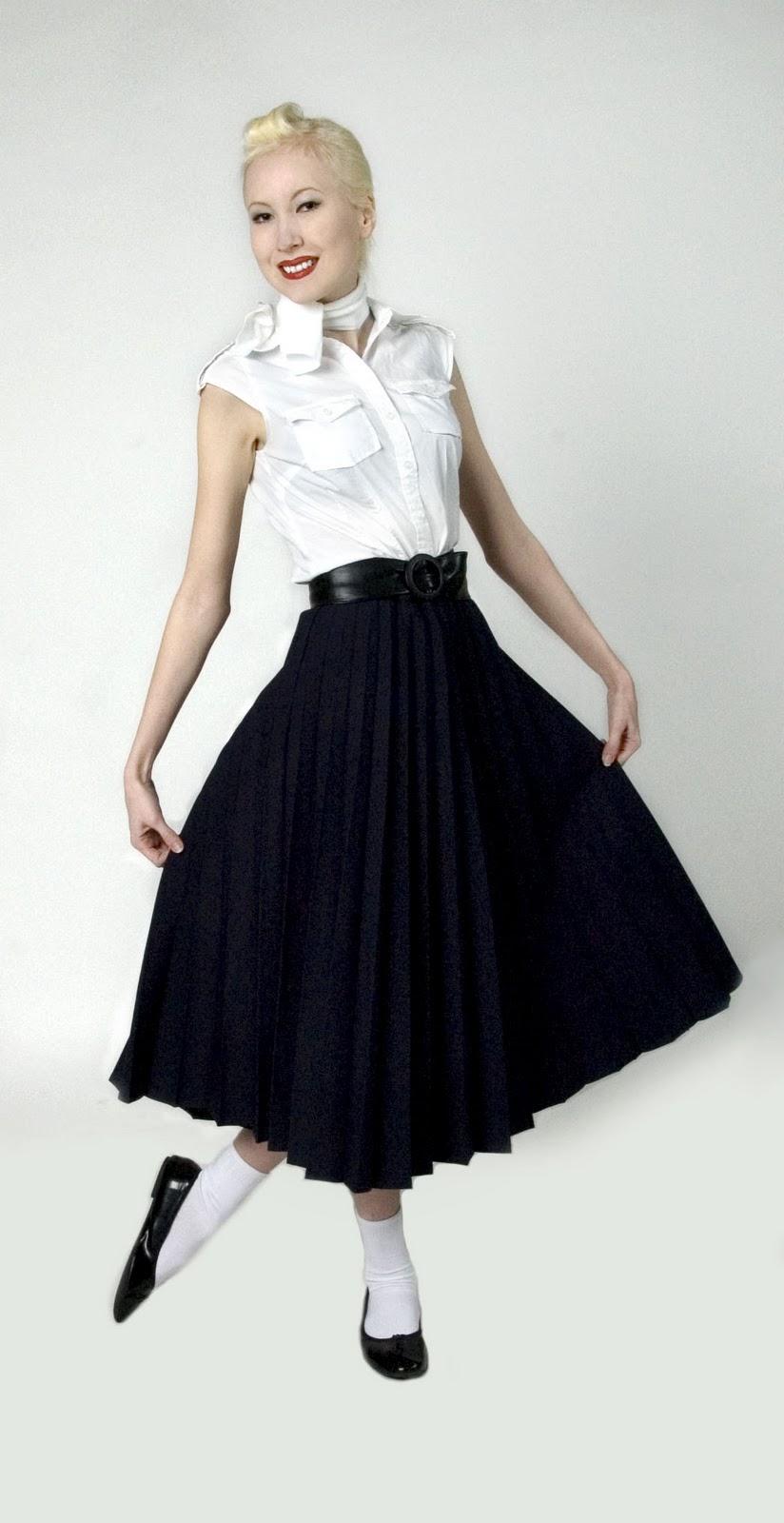 50 tals klader kjol