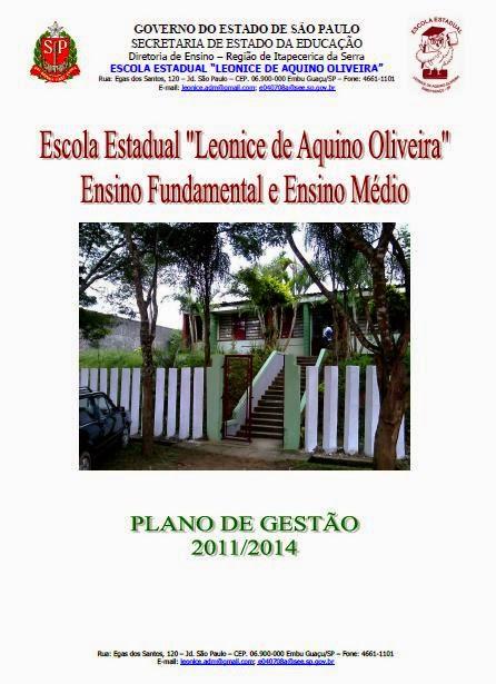 Plano de Gestão e Proposta Pedagógica E.E. Leonice de Aquino Oliveira