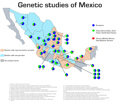 Genetic map of Mexico