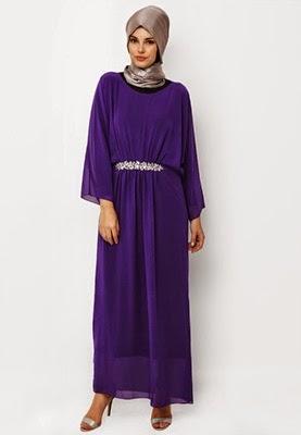 Gambar foto model gaun pesta muslimah itc mangga dua