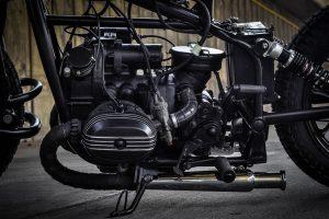 the engine of the Diablo Ural bike