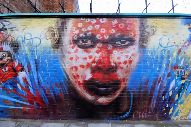 """Wonderland"" new Street Art mural by Dale Grimshaw in East London, UK. 2"