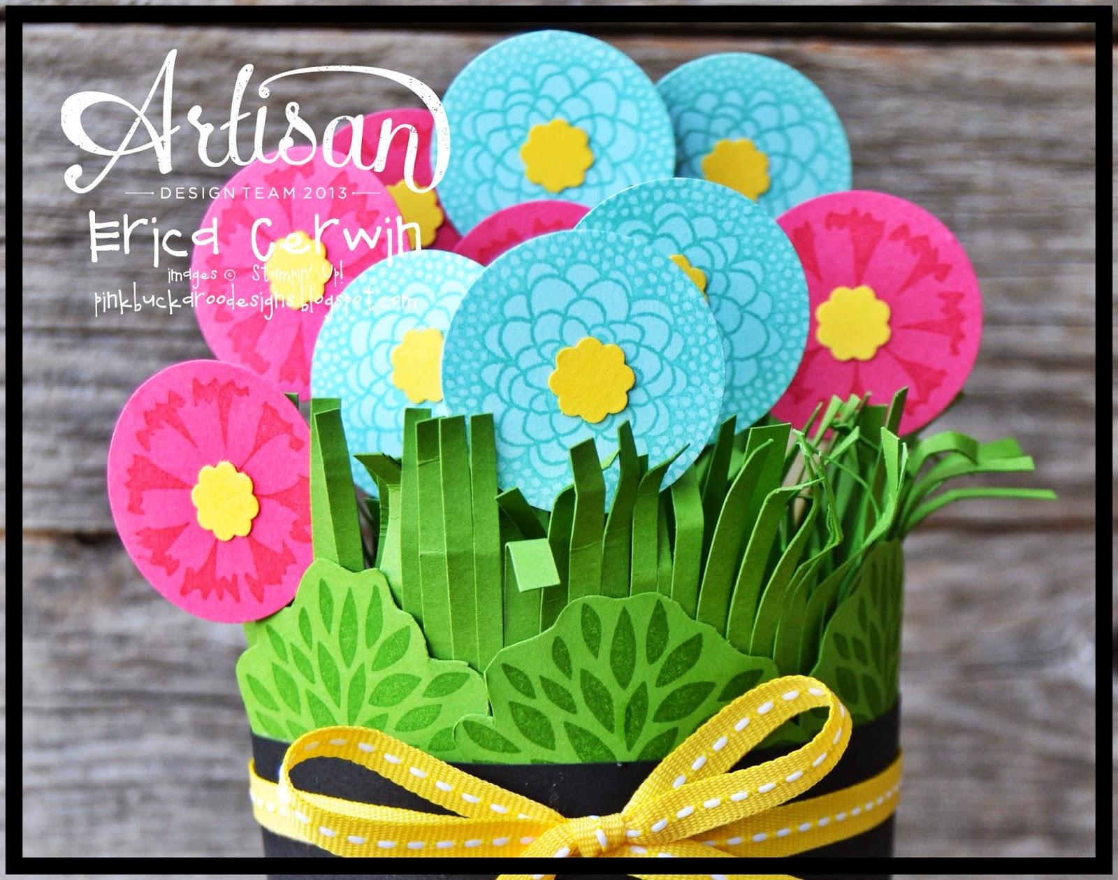 Pink Buckaroo Designs Flower Pot Candy Dispenser Petal Parade