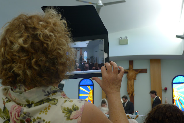 using the iPad as a camera at a wedding