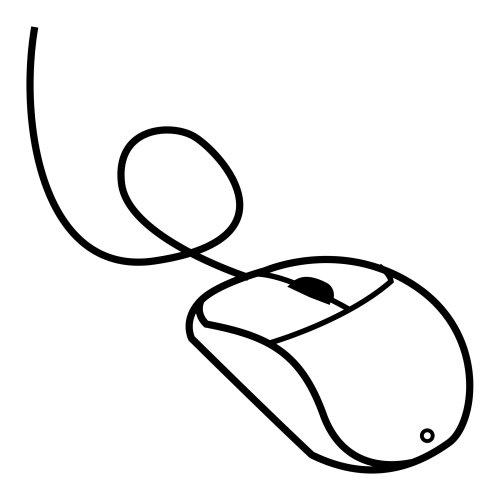 Partes de un Mouse de computadora para colorear - Imagui