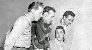 Presley, Cash, Perkins y Lee Lewis
