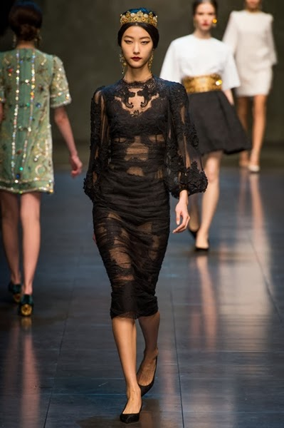 Dolce & Gabbana Fall 2013:吳君如、熊黛林 Jessica Biel、Chanel Iman、Pia Miller 撞衫