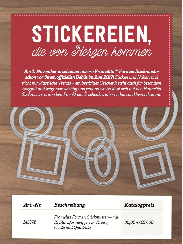 """Wieder erhältlich: Framelits """"Stickereien"""""""
