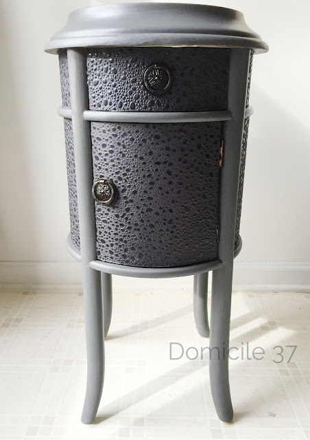 Side Table Makeover using Folk Art Chalk Paint and Wax and Plaid Mod Podge