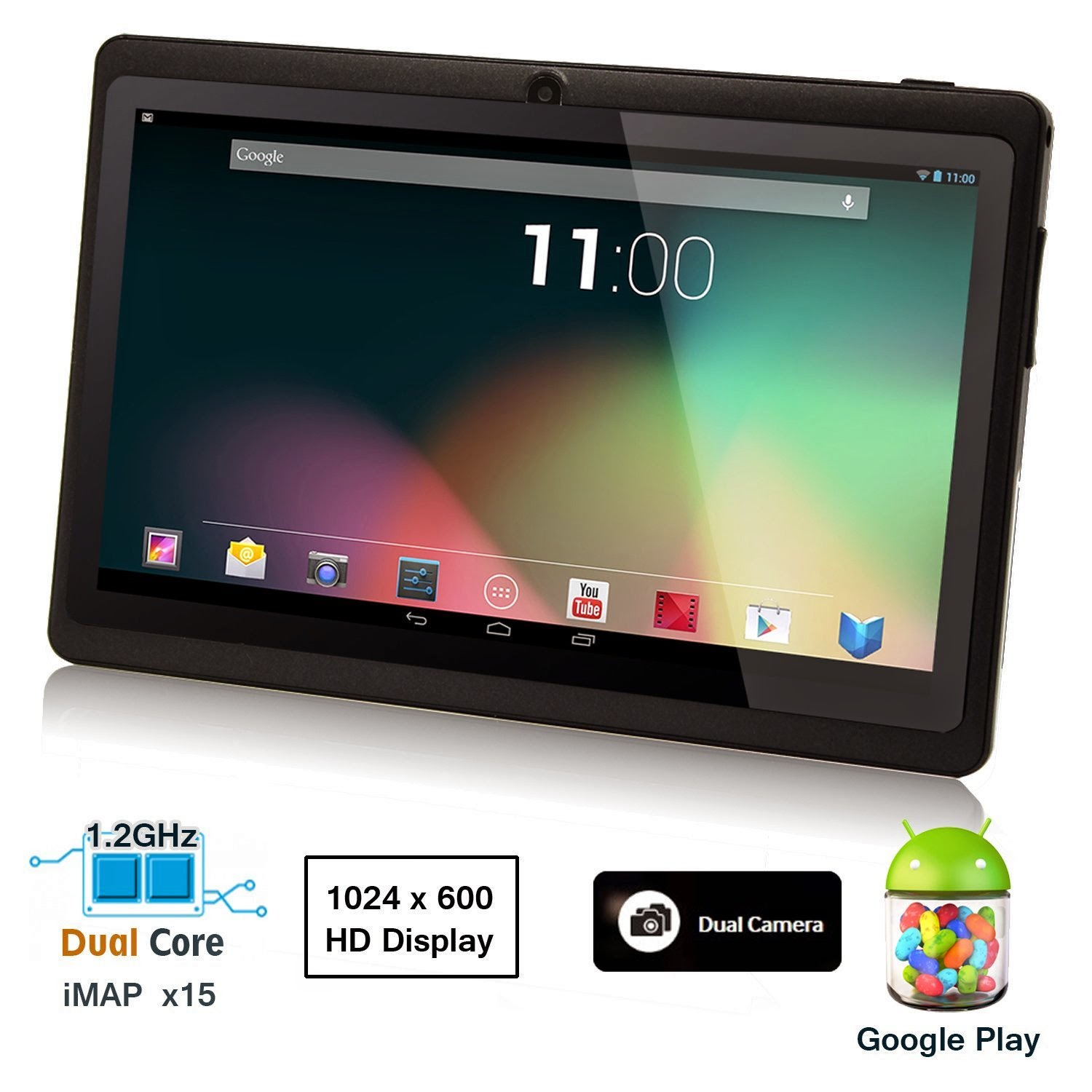 Dragon Touch® 7'' Black Dual Core Y88