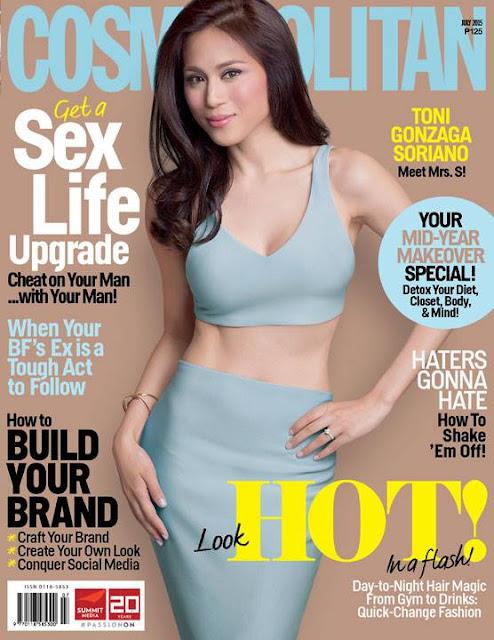Toni Gonzaga Soriano Cosmopolitan July 2015 Cover Girl
