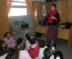 En la Biblioteca Escolar de la Escuela 164. General Acha. La Pampa