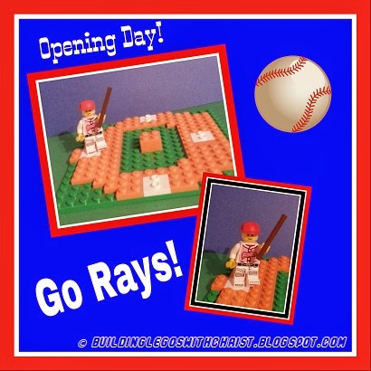 Opening Day LEGO® Style - One reason you should become a Ray's Fan - Ben Zobrist!