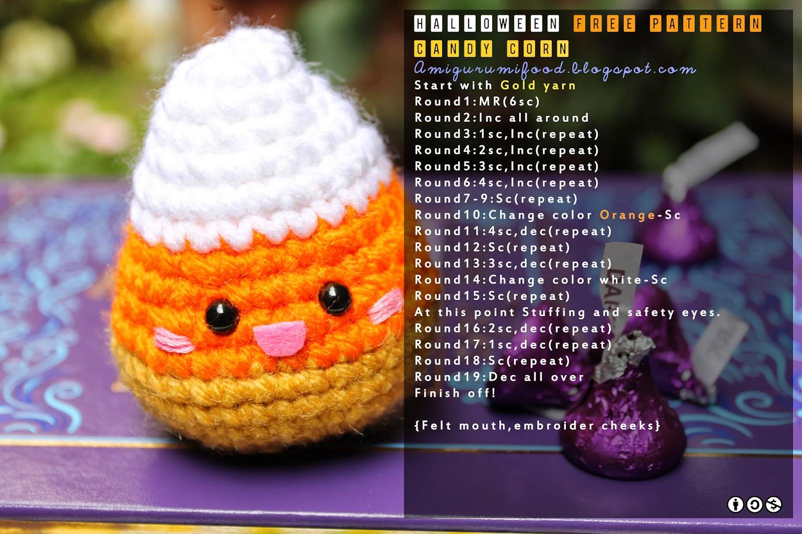 Amigurumi Halloween Free : Kawaii halloween free pattern amigurumi food lovin