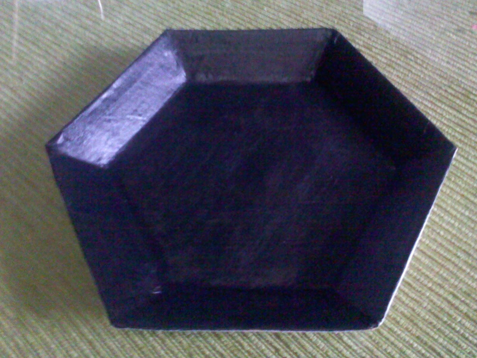 Recetas y Manualidades Antonio: Bandeja de cartón hexagonal