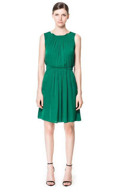 Zara vestido esmeralda