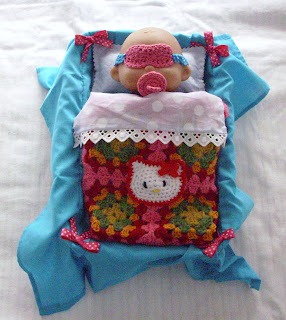 colcha crochet hello kitty