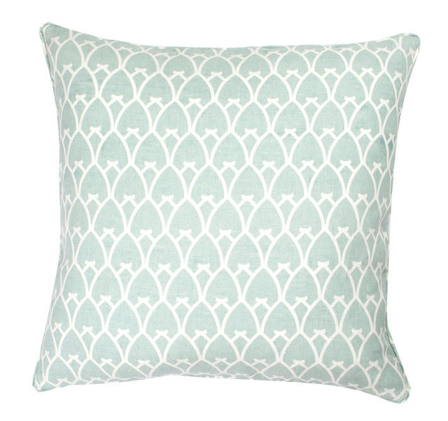 COCOCOZY Arch Linen Pillow in Sea Foam