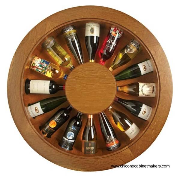 de Casas Botellero de vinos y mesa de apoyo en un solo mueble