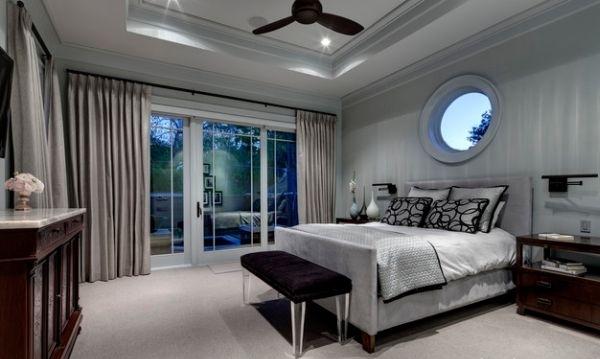 Habitaciones con estilo dormitorios matrimoniales en gris for Cuarto negro con gris