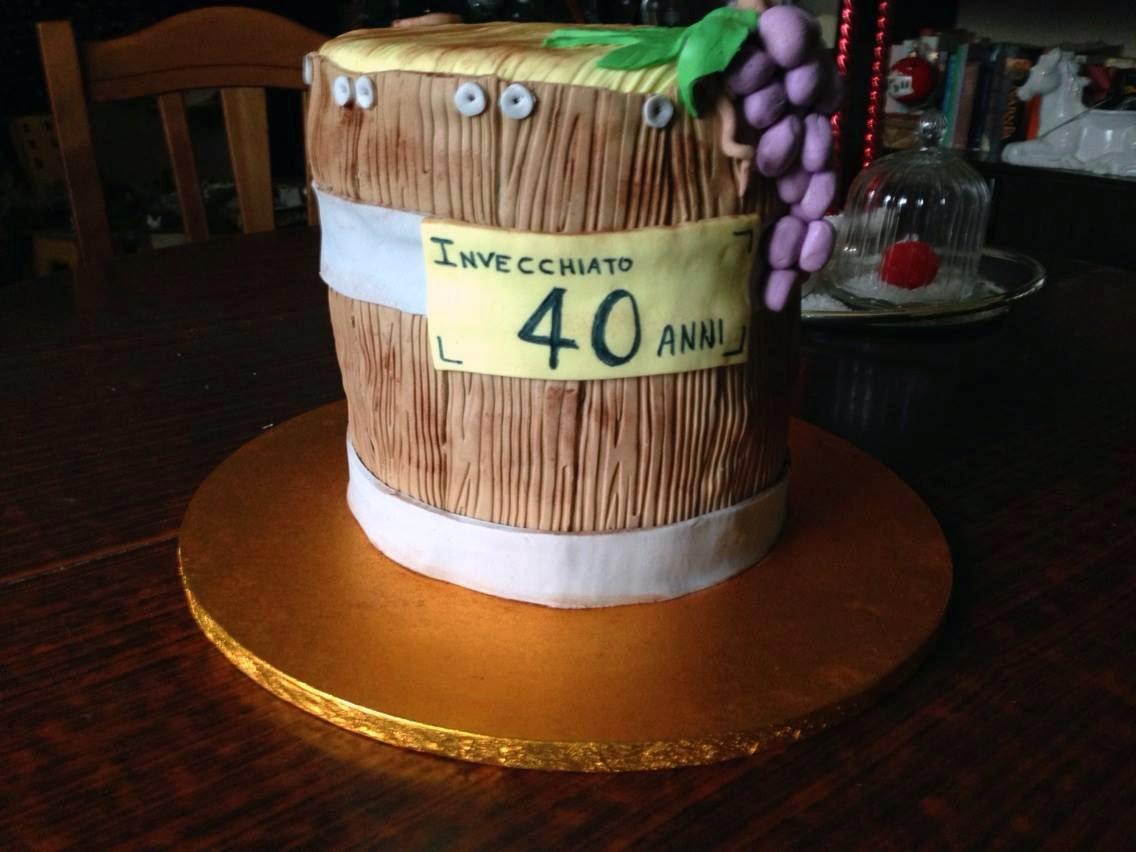 La casa sull 39 albero torta botte di vino buono for Decorazioni torte 40 anni uomo