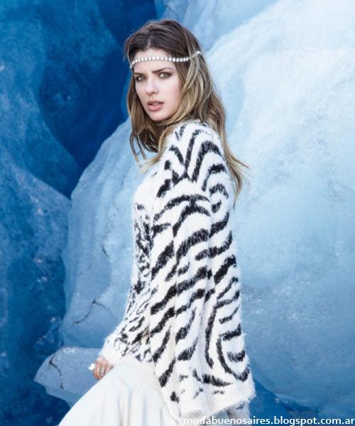Moda invierno 2014 Argentina Falabella sweaters y abrigos 2014.