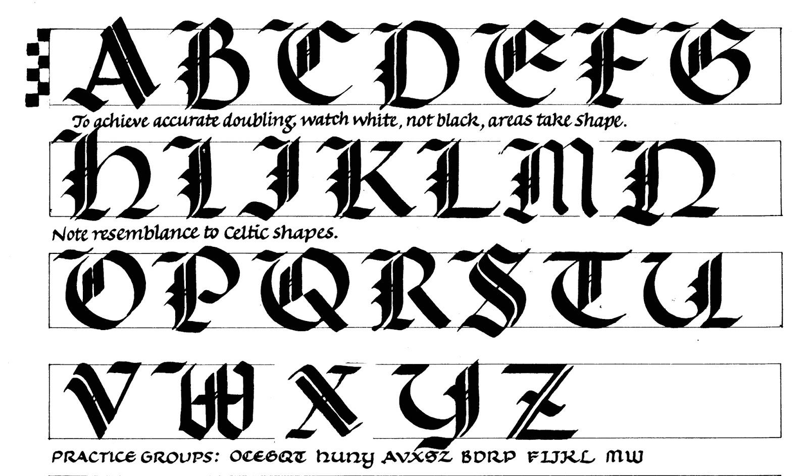 fig alphabet uncial gothic Quotes