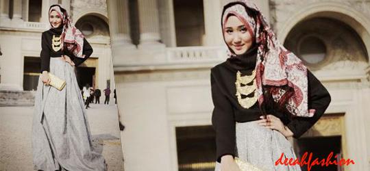 Baju Muslim Nuansa Etnik Ethnic Bold Style