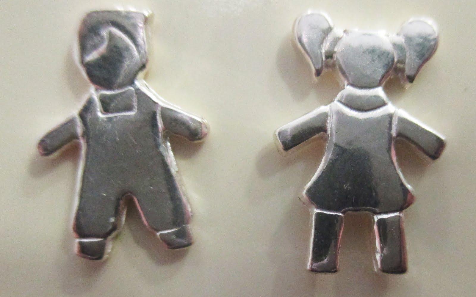 Pendientes de plata niño y niña