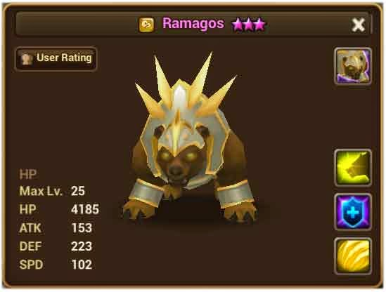 War Bear Summoners War Wind War Bear Ramagos