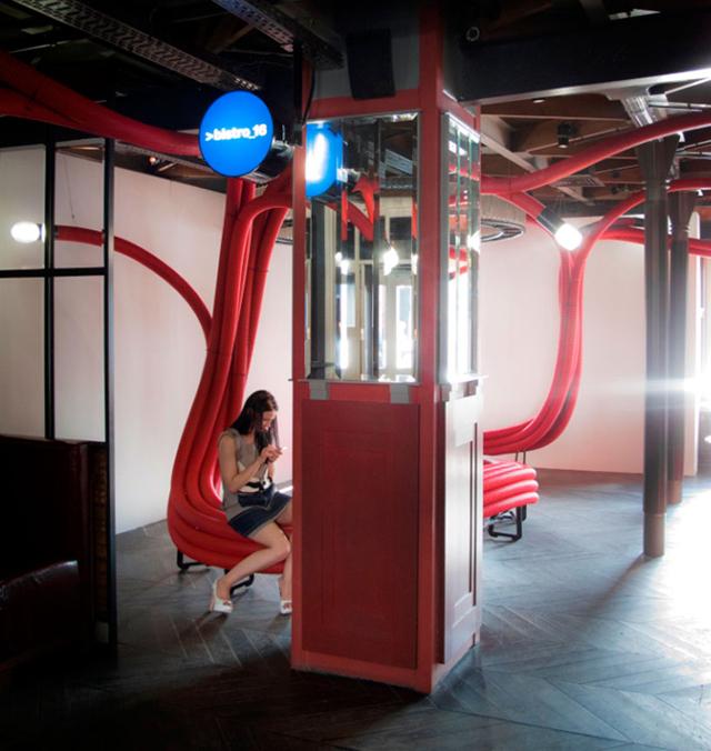 Daniel paya dise o de interiores arquitectura y - Tubo corrugado rojo ...