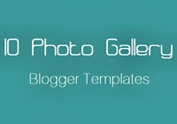 10 Photo Gallery Blogger Templates