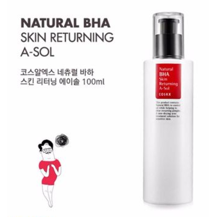 Cosrx Natural Bha Skin Returning A Sol How To Use