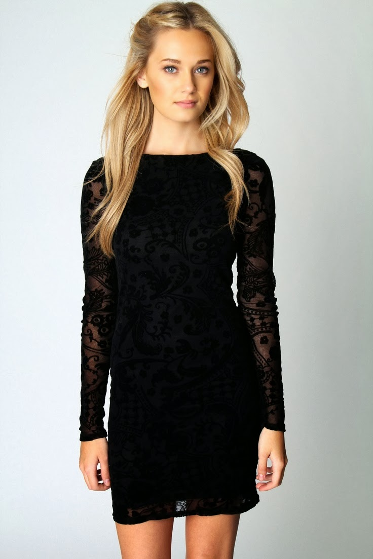 The Most Beautiful Long Black Sleeve Dress
