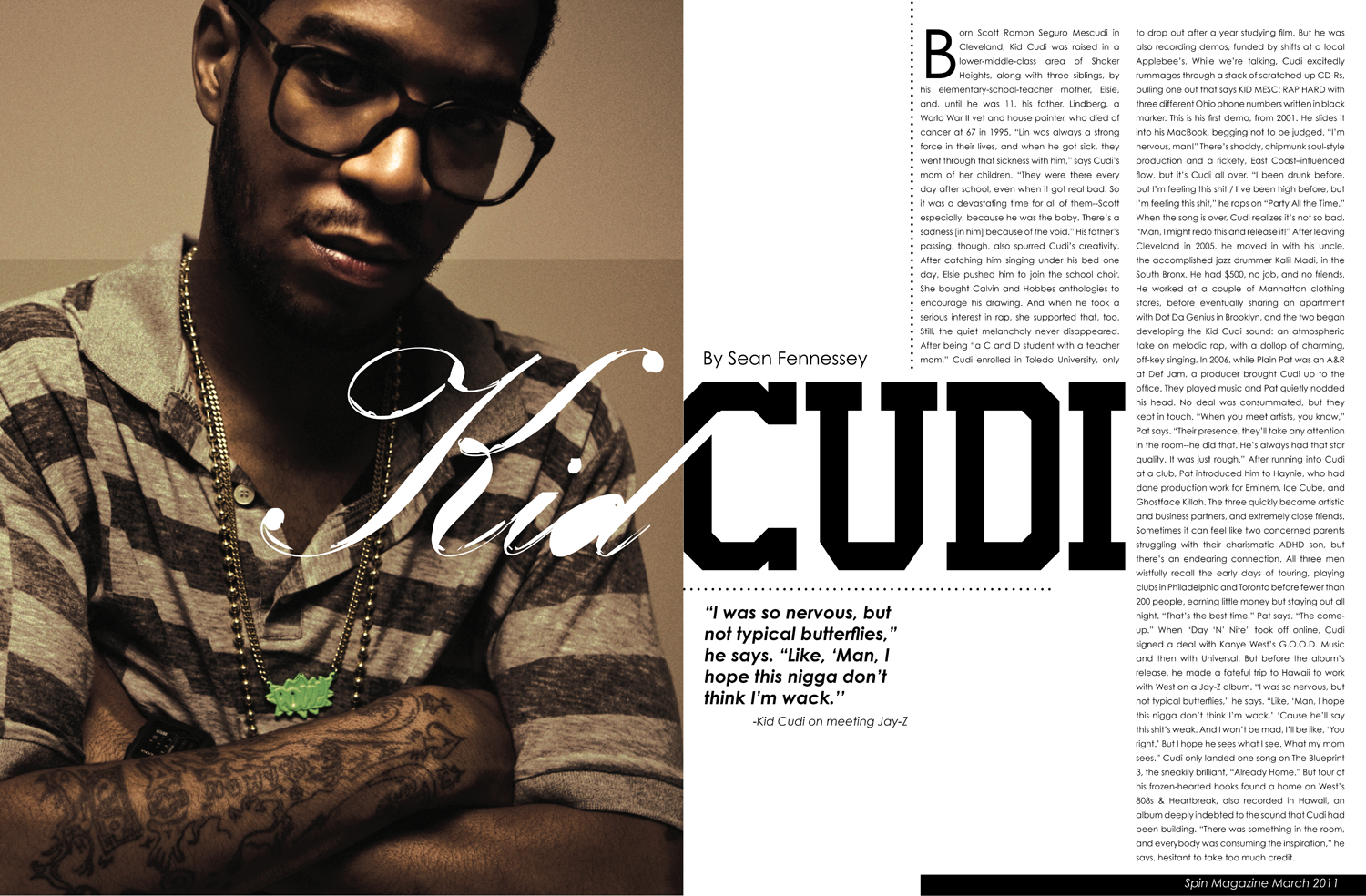 Double page spread magazine keep the