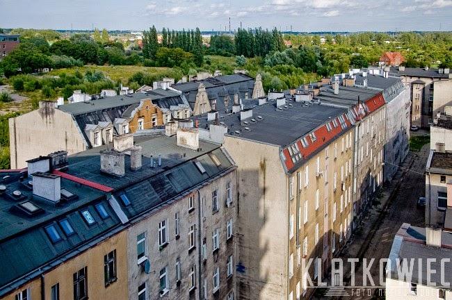 Gdańsk Dolne Miasto. Panorama na dawne kamienice.