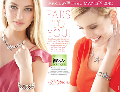 Purchase any Brighton necklace & bracelet and you can choose any pair of Brighton earrings FREE!