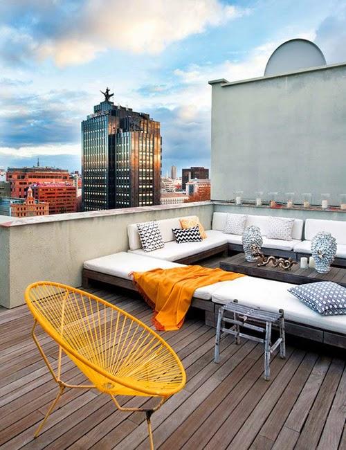 terraza silla acapulco amarilla