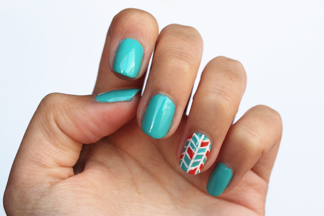Diy Herringbone Nail Art Curly Made