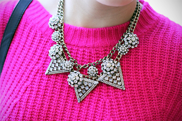 BaubleBar disco ice pave necklace & BaubleBar warrior triad necklace