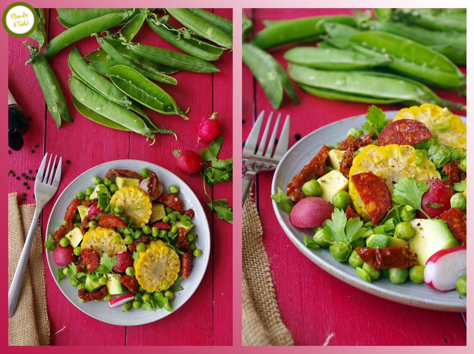 recette salade légumes frais épis de maïs