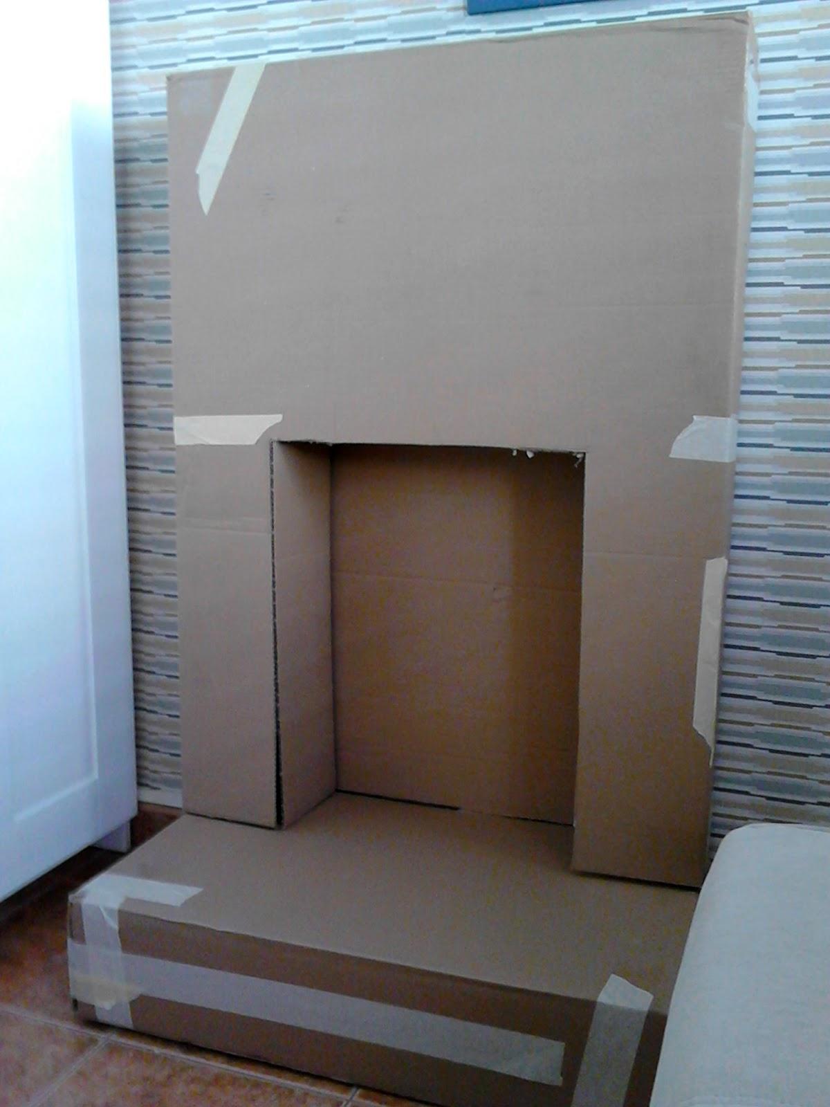 Diy chimenea de cart n leroy merlin - Como hacer una chimenea de obra ...