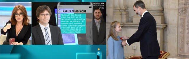 El Rey impone a Puigdemont el Toisón-holograma como no-presidente de Twitterluña